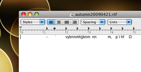 Autumn's First Text File