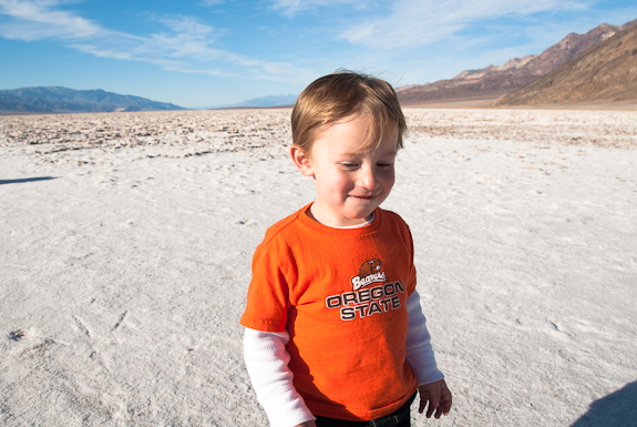Carson at Badwater